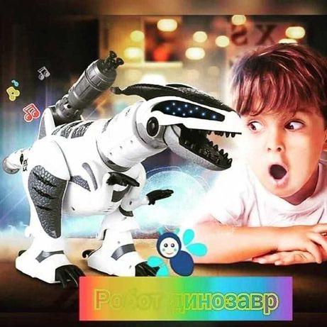 Интерактивный робот динозавр радиоуправления подсветка ходит танцует