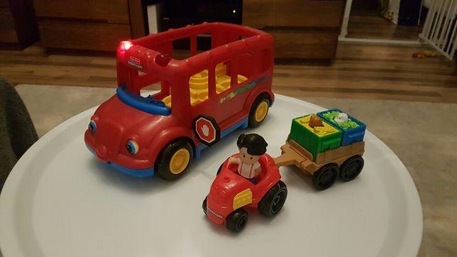 Fisher Price autobus oraz traktor