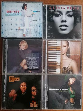 Cd's Whitney Houston, Alicia Keys e Fugges