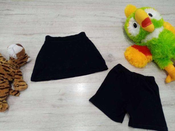 Комплект на девочку 3-6 лет шортики и юбка-шорты