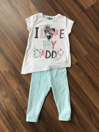 Летний костюм футболка и легенсы укороченные лосины шорты 3-4 года
