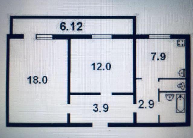 Продам комнату в 2-хком. улица Маршала Тимошенко 5 метро Минская 5 м