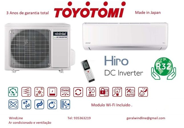 Ar condicionado Toyotomi Venda instalaçao 3Anos garantia Wifi Incluid