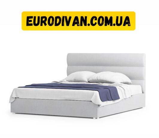 Двухспальная кровать140/160/180х200, мягкая тканевая, ліжко хай тек