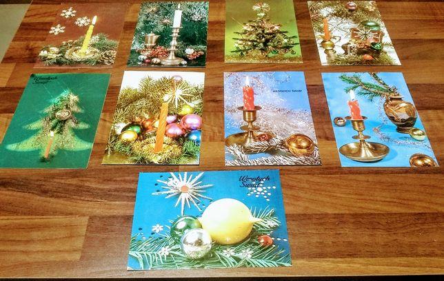 Kartki pocztowe świąteczne , komplet.