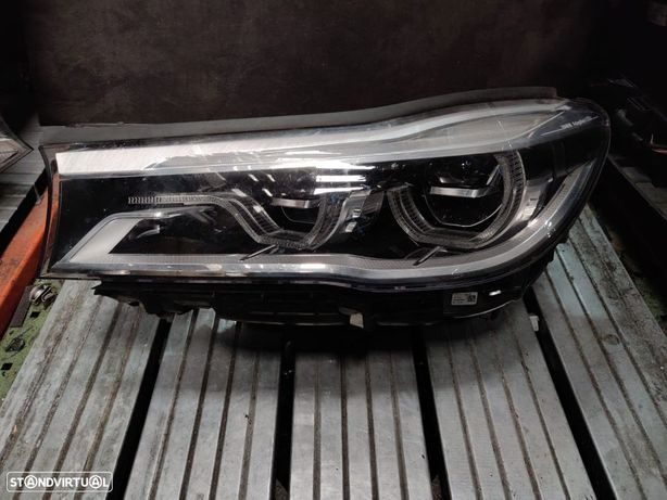 Farol Esquerdo LED e Adaptive LED BMW Serie 7 G11 G12 7441513 7471317 7483905 Optica Esquerda Otica
