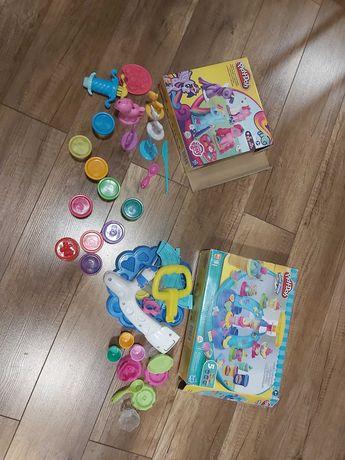2 zestawy play doh koniki pony i lody