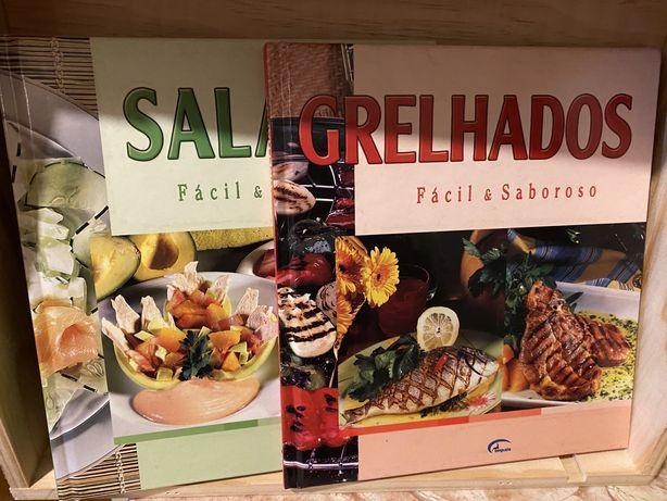 Conjunto livros de receitas - saladas e grelhados