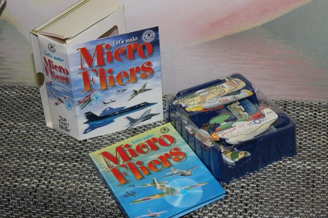 игрушка модельки самолетов micro fliers игра из британии пластик