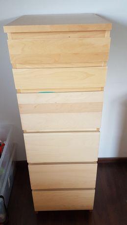 Komoda Ikea Malm, 6 szuflad, lustro 40x123 cm