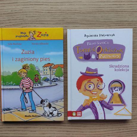 Zuzia i zaginiony pies; Skradziona kolekcja 2 książki NOWE