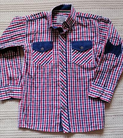 Koszula elegancka, kratka, rozm. 134, na 9 lat