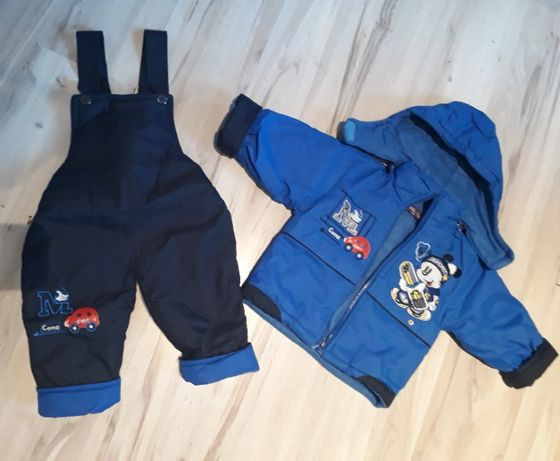 Kombinezon kurtka i spodnie zimowe rozmiar 86