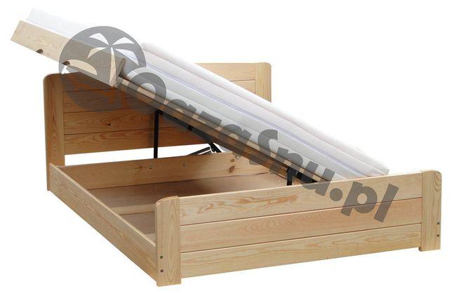 łóżko podnoszone na bok ze skrzynią i pełnymi szczytami WERSAL 160x220