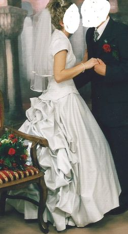 Suknia ślubna Perłowa Srebrna r.36