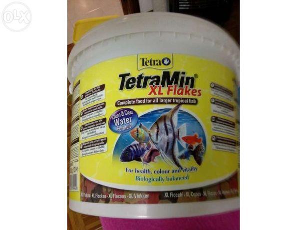 Comida Peixes Flocos Tetramin avulso flocos medios