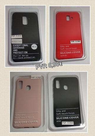Capa Silky Soft Touch Samsung A20e / A6 Plus 2018 / J4 Plus / S20 fe
