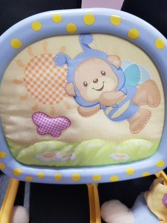 Karuzela na baterie zabawka łóżeczko dla dziecka gratis poduszka klin