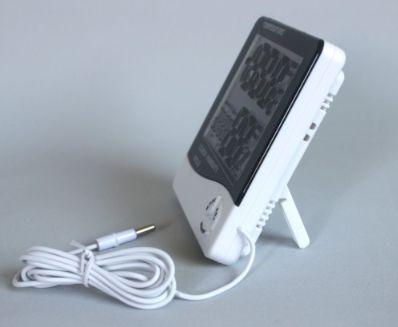 Термометр-гигрометр цифровой с выносным датчиком HTC-2 удобная