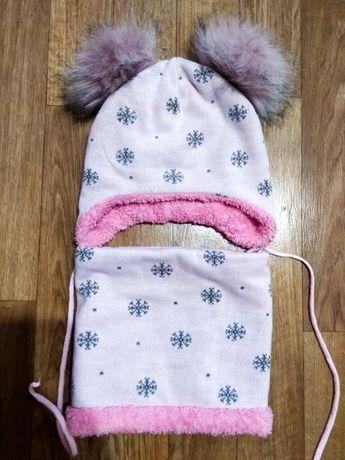 Продам зимний комплект-шапка,хомут, снуд