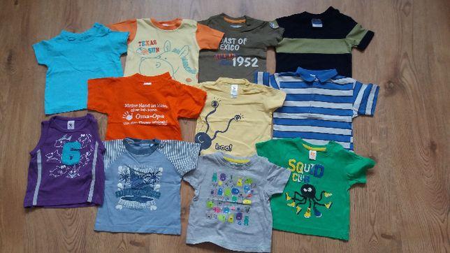 Bluzy, bluzki, body, spodnie, śpiochy dla chłopca (47 szt) r. 62-68