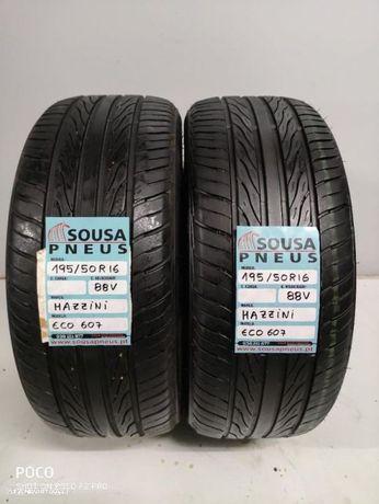 2 pneus semi novos 195-50-16 Oferta da entrega