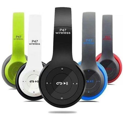 Słuchawki bezprzewodowe P47. Bluetooth. Rozne kolory