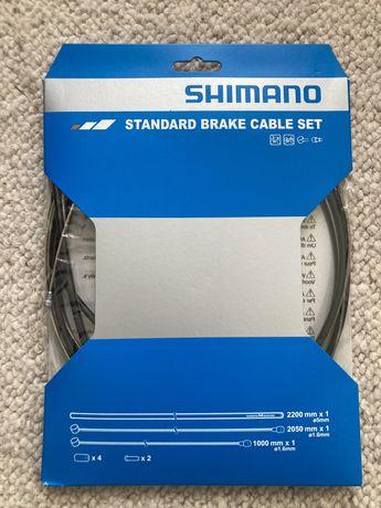 Conjunto cabos travao Shimano com bicha 2m e 1m