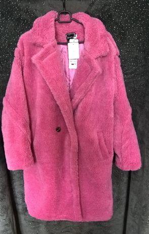 XL Шубка Тэдди новая из искусственного меха, цвет холодный розовый
