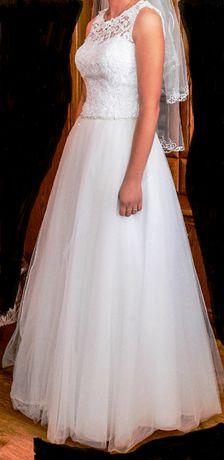 Suknia sukienka ślubna biała 34/36