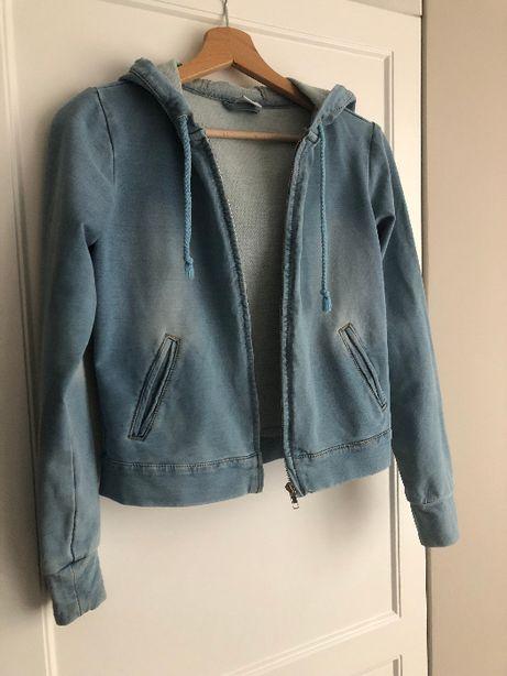 Kurta jeansowa z kapturem dżinsowa jeans 34 XS