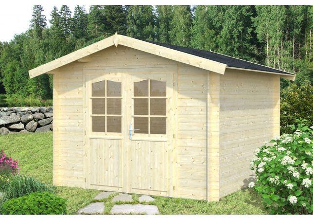 Domek ogrodowy letniskowy drewniany na działkę ROD 2.95x2.95m 34mm
