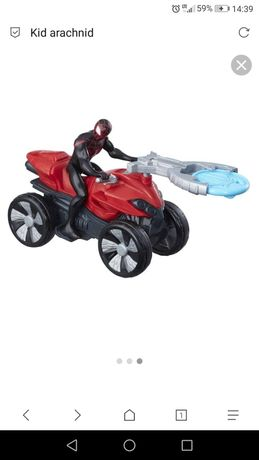 Spiderman wyrzutnia ścigacz quad kid arachnid