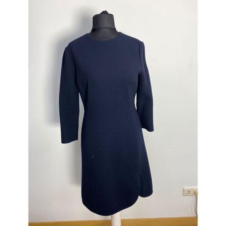 Платье Christian  Dior шерсть шелк синее