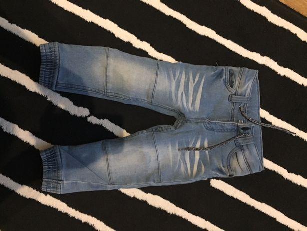 Spodnie jeans 92 86 98 jesienne dlugie adidas rampers pizama hm