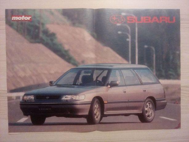 Plakat Poster Subaru Legacy Wagon 4WD 33,5cm x 47,5cm Auto Cars JDM
