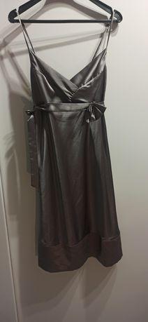 Deep sukienka srebrna rozm. L