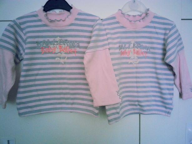 Bluzeczki Wójcik Baletniczka rozmiar 92 i 98 dla bliźniaczek