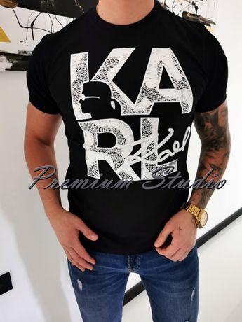 XL, XXL / Karl Lagerfeld męska koszulka tshirt czarna