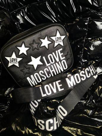 Torba Love Moschino czarna napisy nowość logowana hit