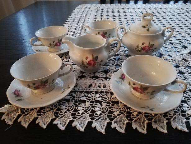 Zestaw kawowy sygnowany porcelana KAROLINA