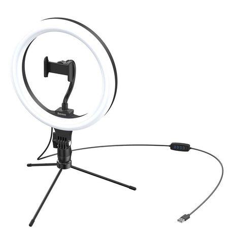 BASEUS - LED Ring 25 cms Com Tripé - Novo