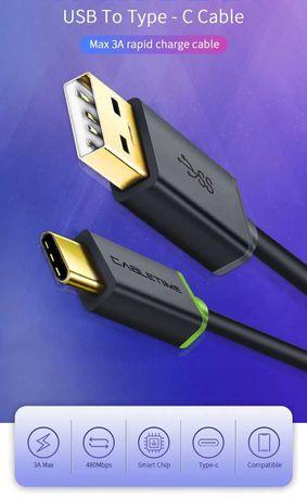 DŁUGI kabel USB-C, 2 metry, 3A, CableTime