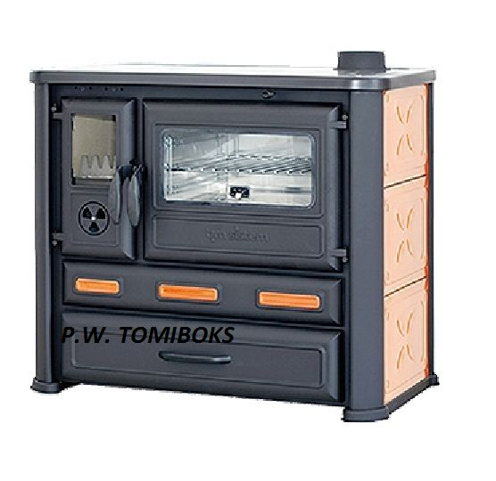 Kuchnia na drewno ALMA MONS żeliwno-stalowa, pomarańczowa Wałbrzych - image 1
