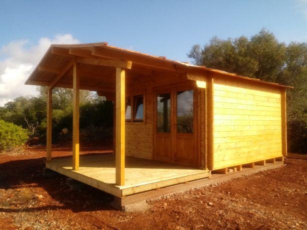 Casa de Madeira MINIKIT 4x4 m - 14.5 m² Casa pré-fabricada mobilehome