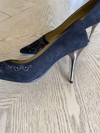 Туфли вечерние натуральная замша 39 размер