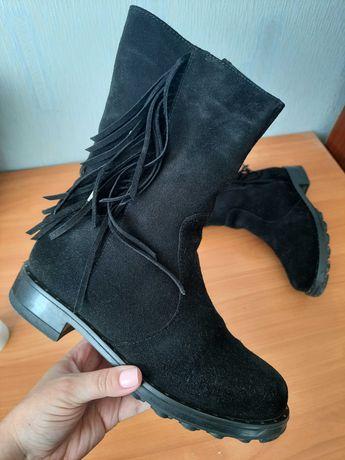 Зимние ботинки зима мех замш ботиночки натуральный замш мех зимн обувь