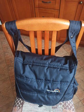 Torba, przewijak do wózka dziecięcego granatowa, mało używana.