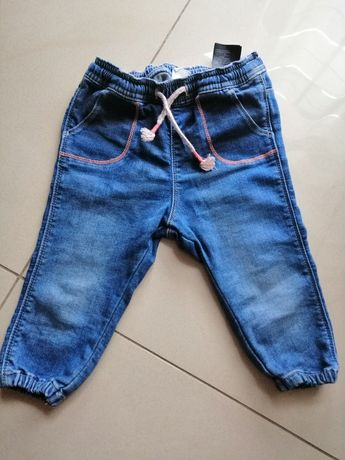 Spodnie jeansy H&M 80