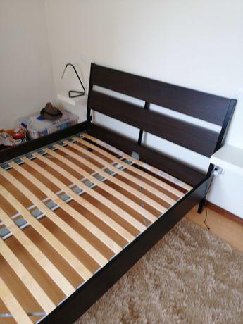 Cama de Casal Ikea Trysil -  nova mais colchão ortopédico Hibermola